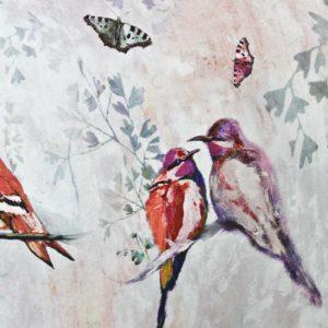 stella-maria-tugitool-birds-linnud-liblikad-butterfly-pink-roosa-lilled-flower