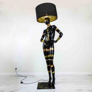 poranda-lamp-must-kuldne-hobe-love-forever-mannekeen-kasitoo-disain