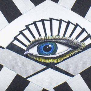 Natalja-eljas-triibuline-padi sinine-must-valge-disain-tekstiil