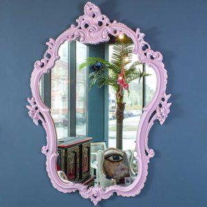 peegel-roosa-roccoco