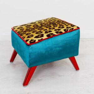 ottoman-turquoise-leopard
